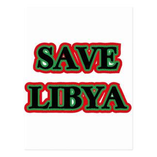 Libya - Save Libya Postcard