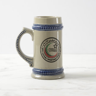 libya transitional council seal beer stein