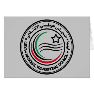 libya transitional council seal card