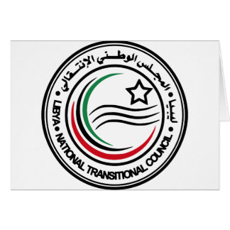 libya transitional council seal card