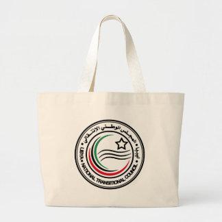 libya transitional council seal large tote bag
