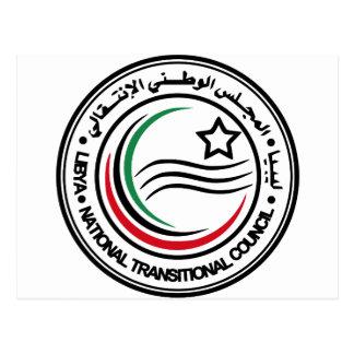 libya transitional council seal postcard