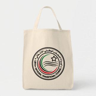 libya transitional council seal tote bag