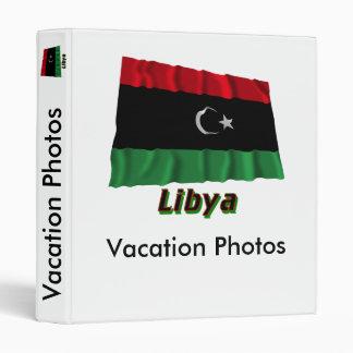 Libya Waving Flag with Name Vinyl Binders
