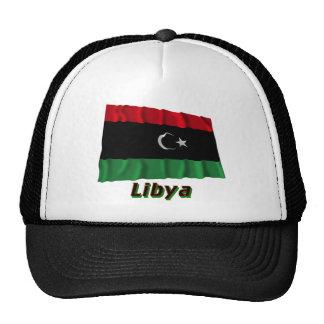 Libya Waving Flag with Name Trucker Hat
