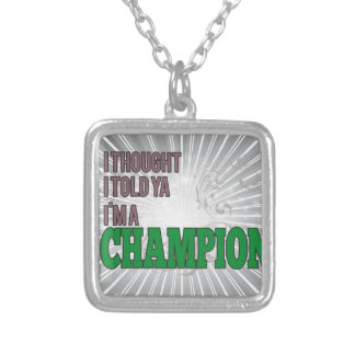 Libyan and a Champion Custom Necklace
