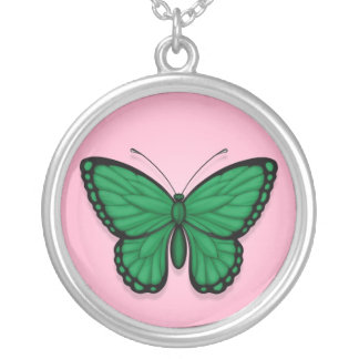 Libyan Butterfly Flag on Pink Jewelry