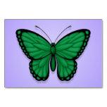 Libyan Butterfly Flag on Purple Table Card