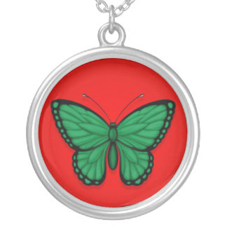 Libyan Butterfly Flag on Red Jewelry