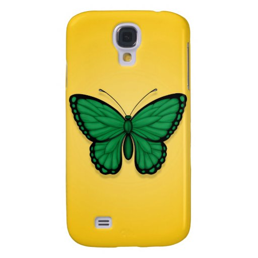Libyan Butterfly Flag on Yellow Samsung Galaxy S4 Case