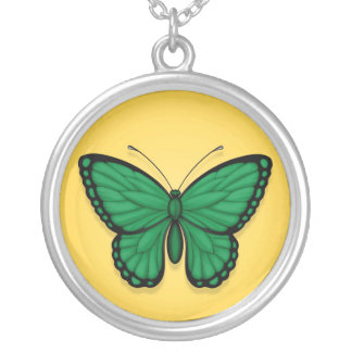 Libyan Butterfly Flag on Yellow Pendant