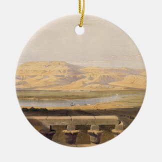 Libyan Chain of Mountains from the Temple of Luxor Ceramic Ornament