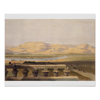 Libyan Chain of Mountains from the Temple of Luxor Print
