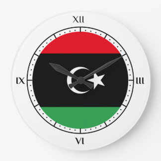 Libyan flag Clocks