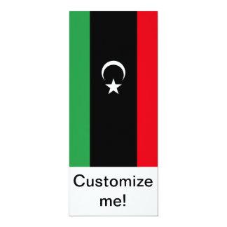 Libyan Flag 4x9.25 Paper Invitation Card