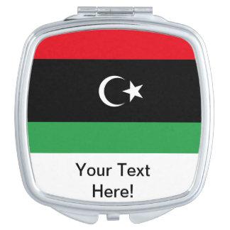 Libyan Flag Mirror For Makeup