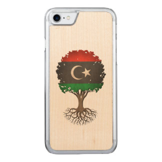 Libyan Flag Tree of Life Carved iPhone 7 Case