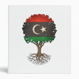 Libyan Flag Tree of Life Customizable 3 Ring Binders