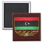 Libyan Freedom Fighter 2 Inch Square Magnet