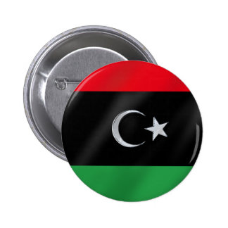Libyan Independence flag - Free Libya protest flag 2 Inch Round Button