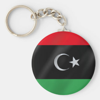 Libyan Independence flag - Free Libya protest flag Keychain