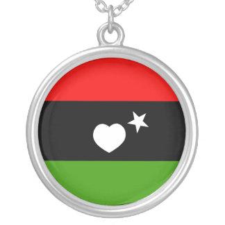 Libyan Love Round Pendant Necklace