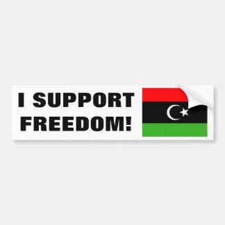 Libyan Rebel Flag Car Bumper Sticker