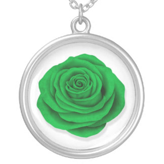 Libyan Rose Flag on White Custom Necklace