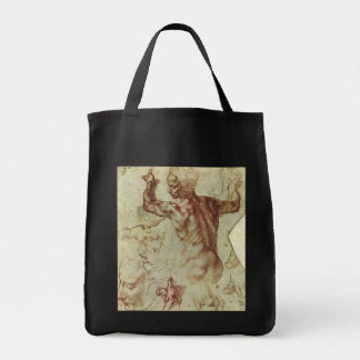 Libyan Sibyl Study by Michelangelo Grocery Tote Bag