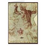 Libyan Sibyl Study by Michelangelo Greeting Card
