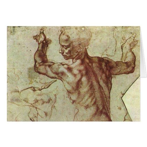Libyan Sibyl Study by Michelangelo, Renaissance Card