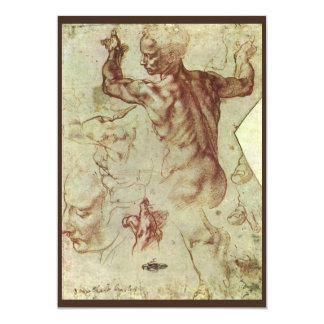 Libyan Sibyl Study by Michelangelo, Renaissance Custom Invite