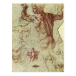 Libyan Sibyl Study by Michelangelo, Renaissance Post Cards