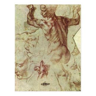 Libyan Sibyl Study by Michelangelo Renaissance Post Cards