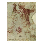 Libyan Sibyl Study by Michelangelo, Renaissance Poster