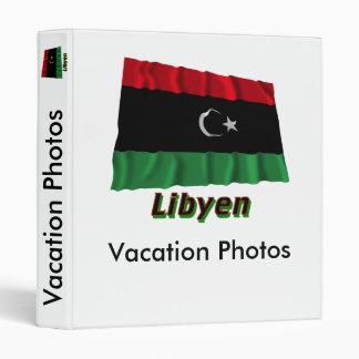Libyen Fliegende Flagge mit Namen Vinyl Binder