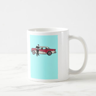 licence and registration please classic white coffee mug