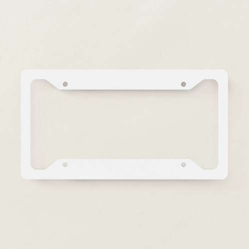 Licence plate Frame _ Style B