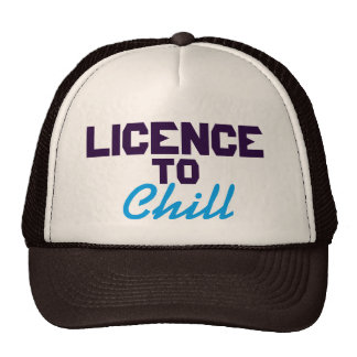 Licence to chill hat