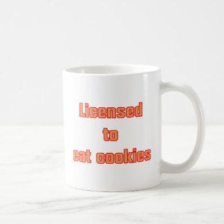 Licenced ton eat cookies classic white coffee mug