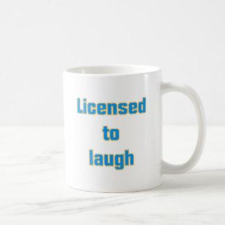 Licenced ton laugh classic white coffee mug