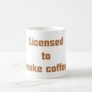 Licenced ton make coffee classic white coffee mug