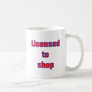 Licenced ton shop classic white coffee mug