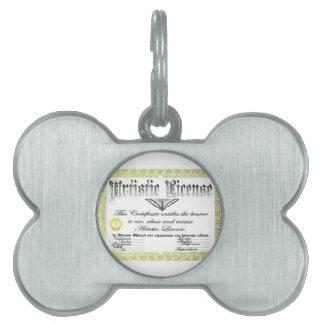 Licencia artística placa mascota