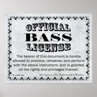 Licencia baja póster