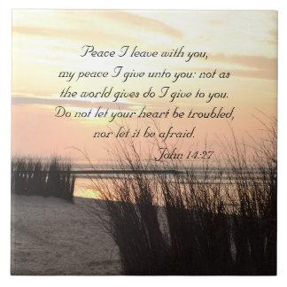 Licencia con usted, puesta del sol de la paz I del Azulejo Cuadrado Grande