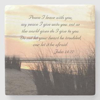 Licencia con usted, puesta del sol de la paz I del Posavasos De Piedra