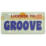 Licencia de acanalar placa de matrícula