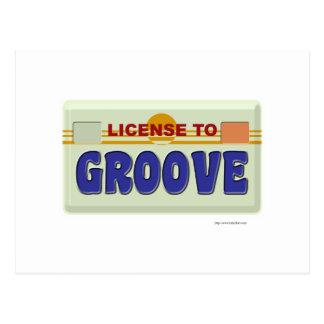 Licencia de acanalar postal