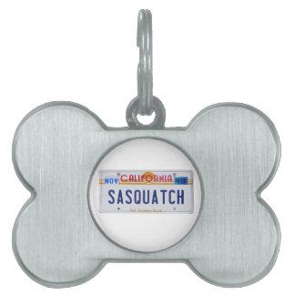 Licencia de California Sasquatch Placas De Mascota